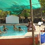  Enjoying in Family Pool