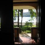  view from inside room looking out