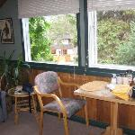 Breakfast nook at the window