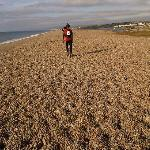 I ran 2 miles along Chisel Beach in the race