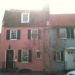 The Pink House originally got its name from the West Indian coral stone with which it was built.