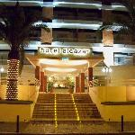 Hotel entrance at Christmas