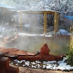 It's winter in the Jemez!  Great time to soak in a Hot Spring Pool!