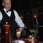 Flaming spanish coffee
