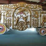 This is the biggest collection of Circus Wagons in the world. They did a great job restoring the