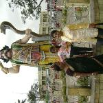 In front of Mahishasura :)  :)