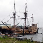 Mayflower II.  A replica of the original Mayflower.