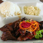 Teri-beef plate