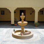 An open air courtyard within the guesthouse of the Berber Cultural Center.