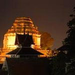 Wat Chedi Luang night time