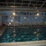 enclosed sports pool (lots of snow outside)
