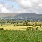 View across valley to Pendle Hill