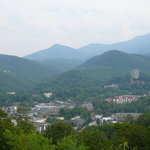 Daytime view of Gatllinburg from Scenic Overlook on By-Pass
