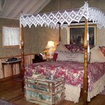 French cabin, bed