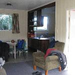  The living area and kitchen