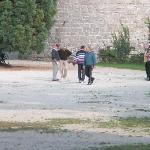 Locals playing boules