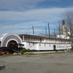 S.S. Sicamous moored nearby