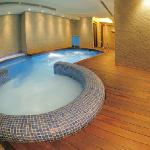Jacuzzi and interior heated swimming pool