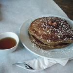  Their yummy gingerbread pancakes with Maple Syrup