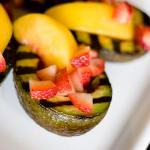  Grilled Avocado with Peaches