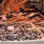  Fish being sold in the open market in Catania