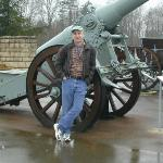 Verdun France - in front of a very big gun