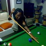 The pro.....shootin pool against Germany n Croatia @ Abantu Backpackers, Cape Town