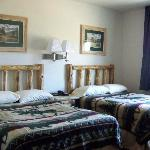 2 beds in new motel
