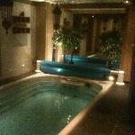 The very lovely swimspa... which we used twice a day..