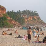 Varkala beach at sunset, January 2010