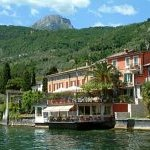 The Hotel Du Lac from the lake