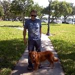 Gracie and I at the park after the Sat Morning Market in downtown St Pete ... Oct 09
