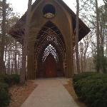 beautiful chapel in the woods