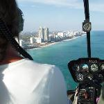 Pic from the back seat of the R44 Helicopter