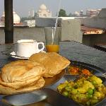 Breakfast on the roof