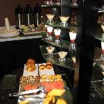 Continental breakfast served in the club lounge