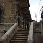  the stairs leading to entrance