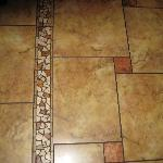 Beautiful floor tile within