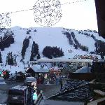 view from the balcony- to the lifts