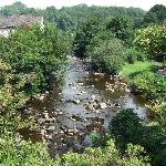 Veiw from the bridge of the river Doe