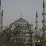 view of blue mosque from roof terrace