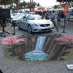 Coconut Grove Arts Festival -- This display is an illusion created by chalk!
