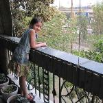 Cecile in our Balcony
