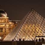 Glass Pyramid, the Louvre at night