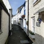  one of Polperros narrow streets