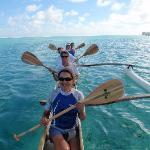 A paddle in the Vaka