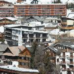The hotel from the slopes