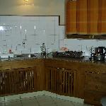 The kitchen from the living room