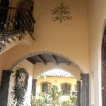 from one courtyard to another