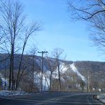 Catamount Mountain on the Massachussetts and New York State lines.NY is the slopes on the righ